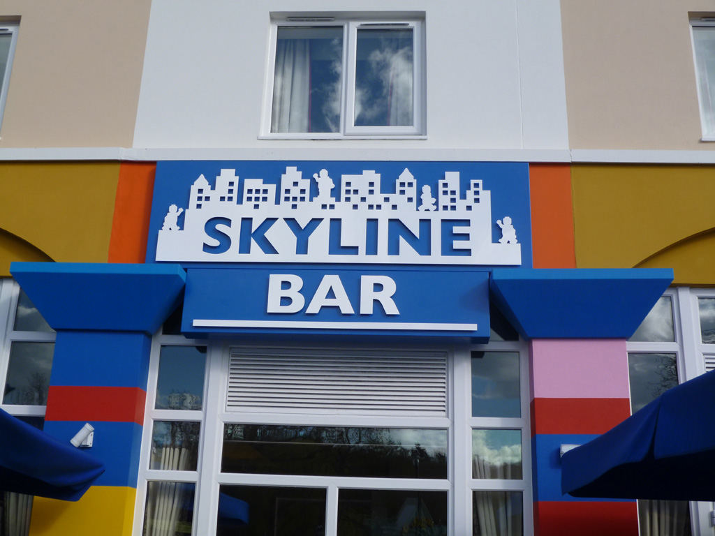 Skyline Bar, for Legoland has been fret cut